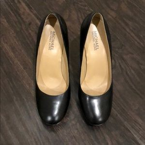 Michael Kors Black leather platform heels 6.5 M